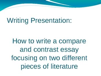 Writing A Good Essay - PowerPoint Presentations free to